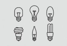 向量Lamp Icon Set