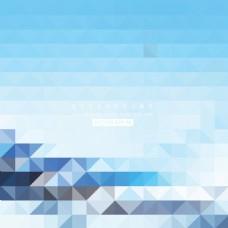 蓝色几何三角形背景矢量