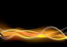橙色黄色波浪背景