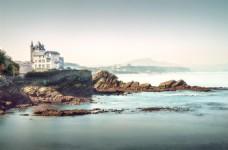 海边房子淘宝海报背景