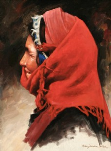 包著頭巾的老太太