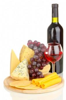 奶酪与红酒图片