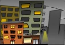 卡通城市街道