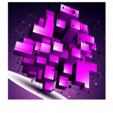 紫色不规则创意几何物体背景矢量素材