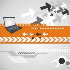 计算机技术背景图案矢量模板元素