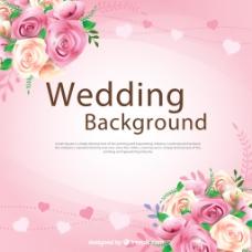 婚礼背景矢量