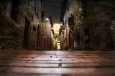 夜晚的街道淘宝背景