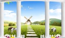 3D风景背景墙
