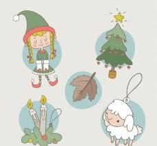 手绘圣诞饰品