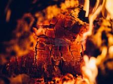 火,壁炉,余烬,元素