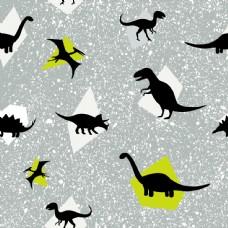 重复底纹恐龙剪影