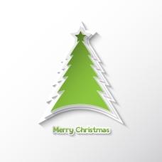 圣诞树白色背景