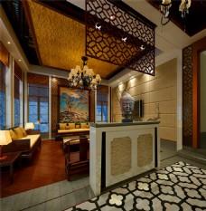 中国风客厅模型