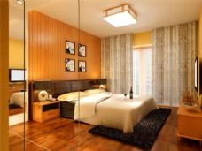 田园风格卧室模型