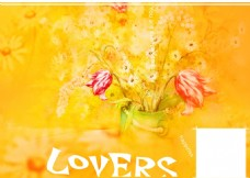 LOVERS婚纱照相册设计模板