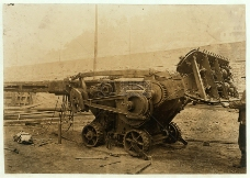 天空下的采矿机