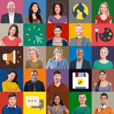 微信和商务男女图片
