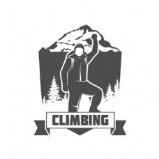 登山运动人物标签图片