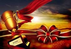 颁奖奖杯广告