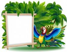 卡通鹦鹉设计图片