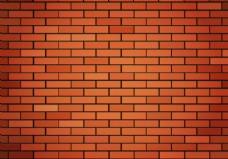 自由红砖墙矢量