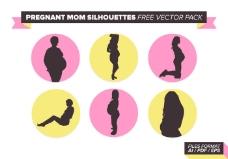孕妈妈免费矢量剪影