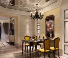 餐厅设计模型