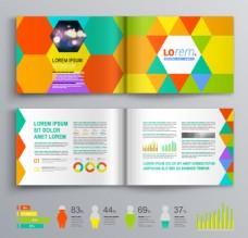 个性彩色画册设计矢量图片