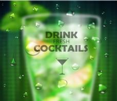 绿色泡泡派对海报