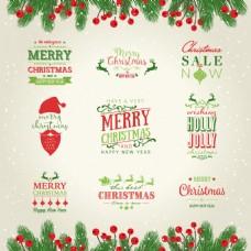 梦幻圣诞标签集
