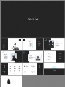 简约黑白时尚艺术PPT模板