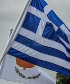 美丽的蓝色国旗
