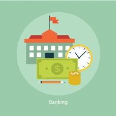 银行背景的设计
