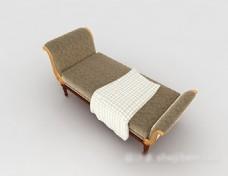 欧式花纹沙发躺椅3d模型下载