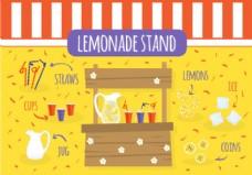 免费柠檬水站矢量图