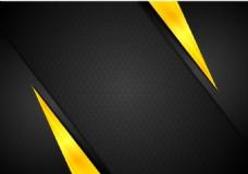 黑色黄色光效背景矢量素材