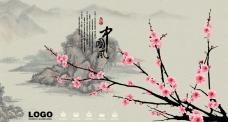 中国风桃花