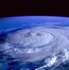 卫星图像显示的地球飓风
