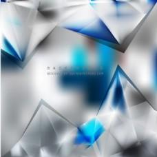 蓝灰色几何三角形背景模板