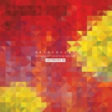 红黄色三角形背景图像