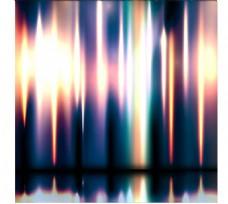 炫彩动感光效背景矢量素材