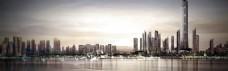 繁华城市淘宝背景