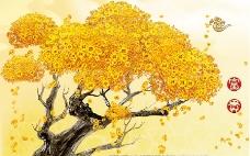 摇钱树 吉祥如意黄金招财树 发财树图片