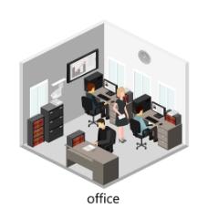 拥挤的办公室图片
