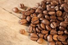 许多咖啡豆特写图片