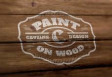 logo 模板 木纹