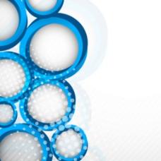 蓝色圆圈网点设计装饰元素背景图