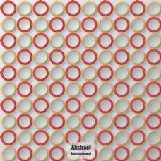 彩色圆环背景矢量图