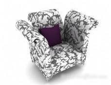 花纹沙发3d模型下载
