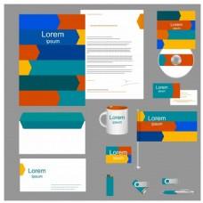企业形象集丰富多彩的设计自由向量